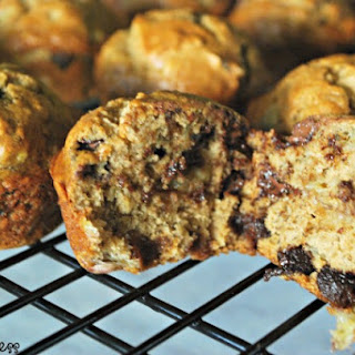 Banana Muffins with Chocolate Chips.