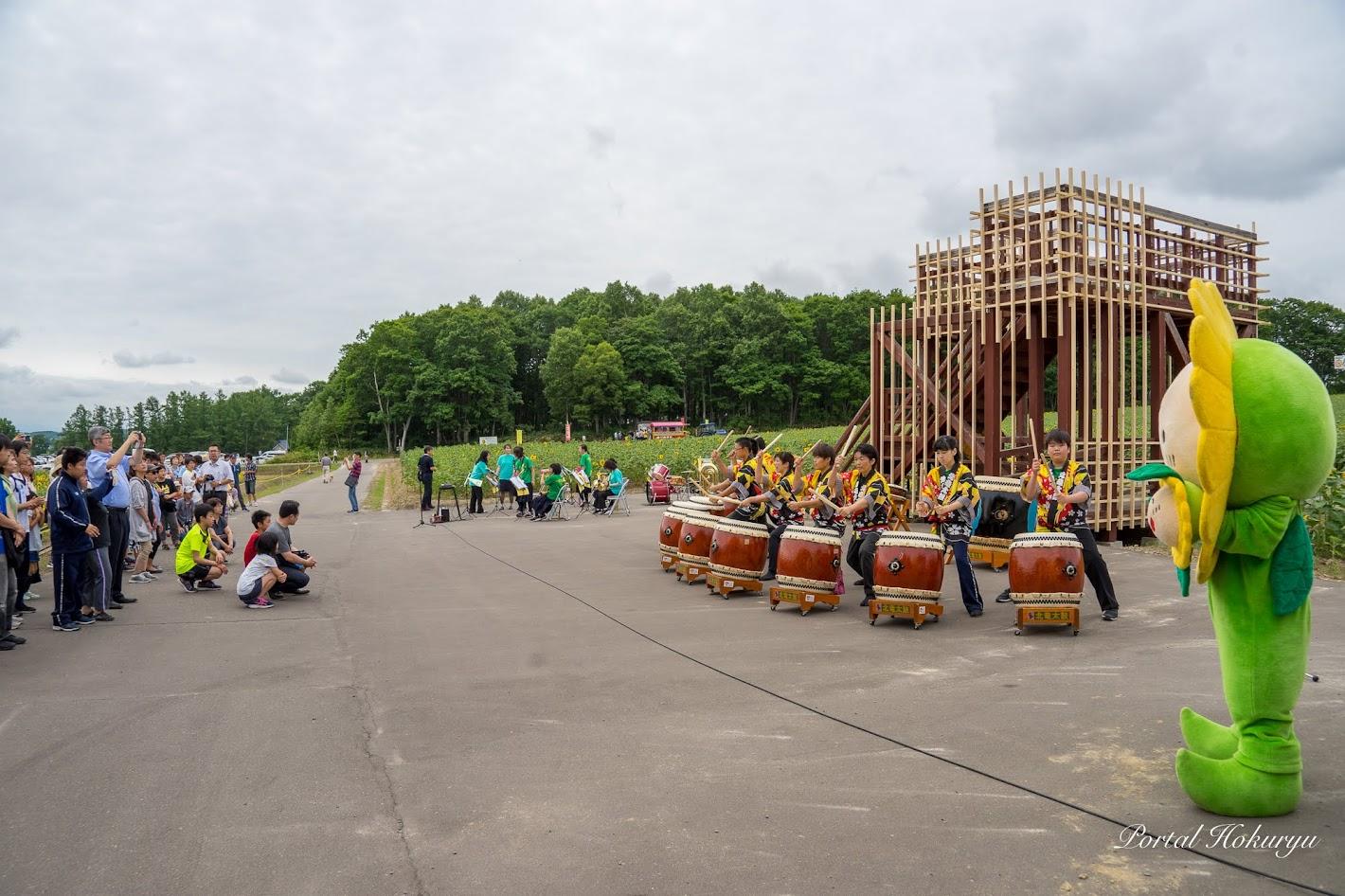 北竜太鼓の演奏