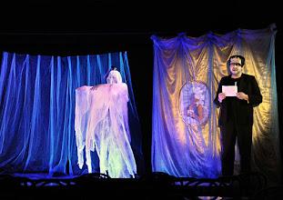 """Photo: Theater an der Wien/ Spielort """"Hölle"""": """"IM SIEBENTEN HIMMEL"""" von Georg Wacks nach Fritz Grünbaum. Premiere 28. 10.2015. Elena Schreiber, Christoph Wagner-Trenwitz. Copyright: Barbara Zeininger"""