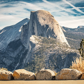 by Matthew Clausen - Landscapes Mountains & Hills ( half dome, national park, yosemite, nature, california, travel, landscape )