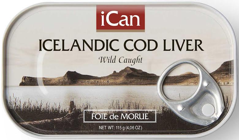 Isländsk naturell torsklever – Ican