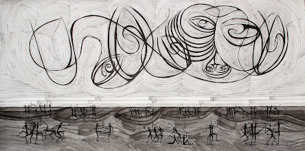 Photo: Lost In Motion | 3.50' x 7' | Ink on paper