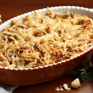 Thunfisch-Pasta-Gratin mit Oliven