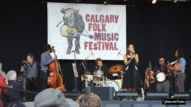 Photo: Rhiannon Giddens and band at the 2015 Calgary Folk Music Festival.