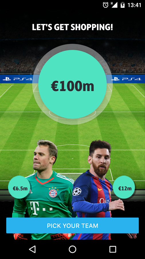UEFA Champions League Fantasy - Android Apps on Google Play