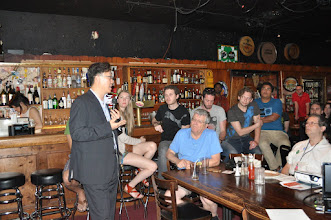 Photo: Giving a talk at pint of science in Philadelphia