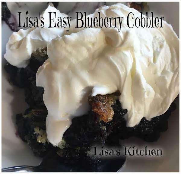 Lisa's Easy Blueberry Cobbler Recipe