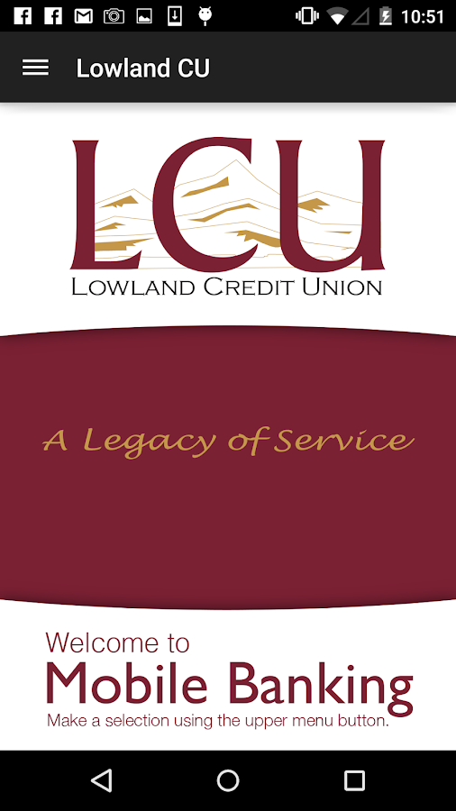 Lowland Credit Union- screenshot