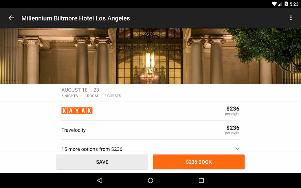 #18. KAYAK Flights, Hotels & Cars (Android)