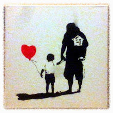 """Foto: Handmade stencil with acrylic spray colours """"Banksy Style"""" by F&N (Fausto Novelli)  NON DISPONIBILE"""
