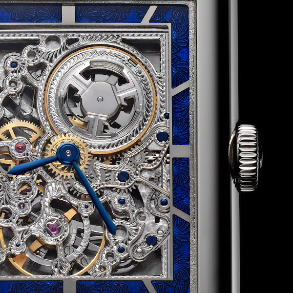 Photo: Openworked movement of the Grande Reverso Ultra Thin SQ. Learn more on http://bit.ly/GSoPDR
