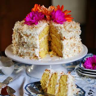 Old Fashioned Coconut Sour Cream Ice Box Cake.