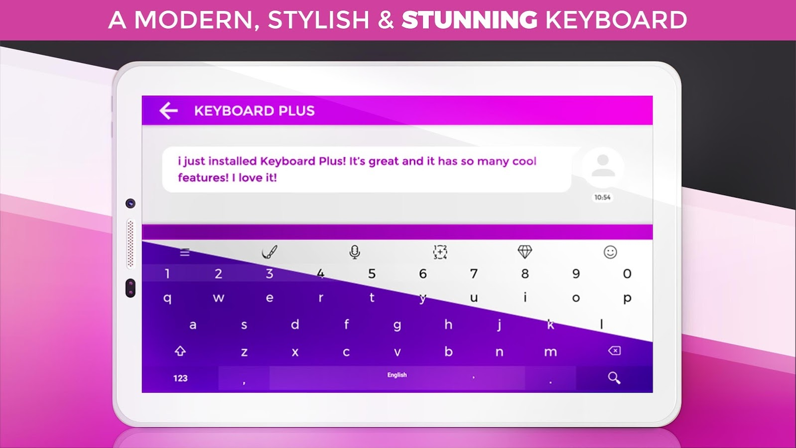 Keyboard Plus Emoji- screenshot