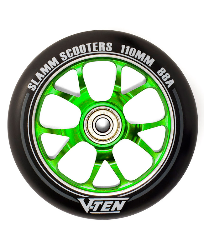 Slamm V-Ten II Wheels set 110mm Green