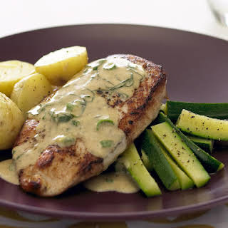 Chicken Breast with Basil Wine Sauce.