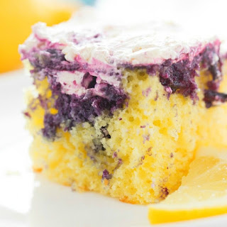 Lemon Blueberry Poke Cake.