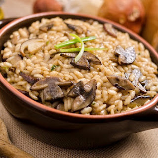 Easy Brown Rice with Mushrooms.