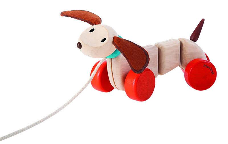 Contenido de PlanToys 5101 Arrastre Cachorro Feliz