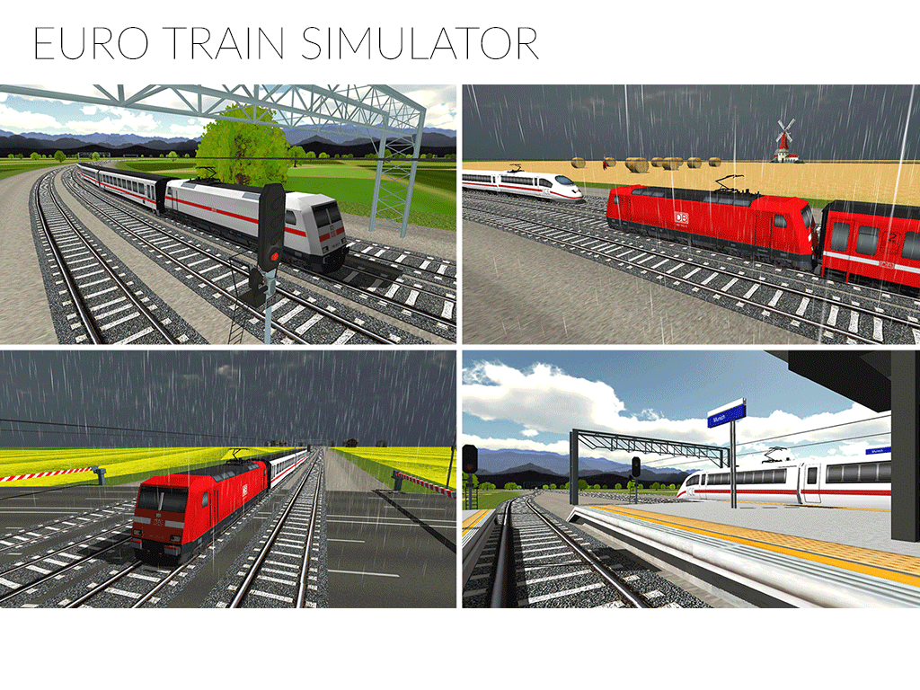 Euro Train Simulator- screenshot