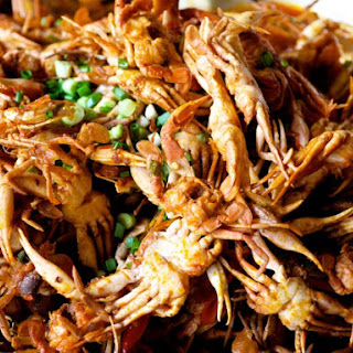 Brick Weighted Sauteed Soft Shell Crabs