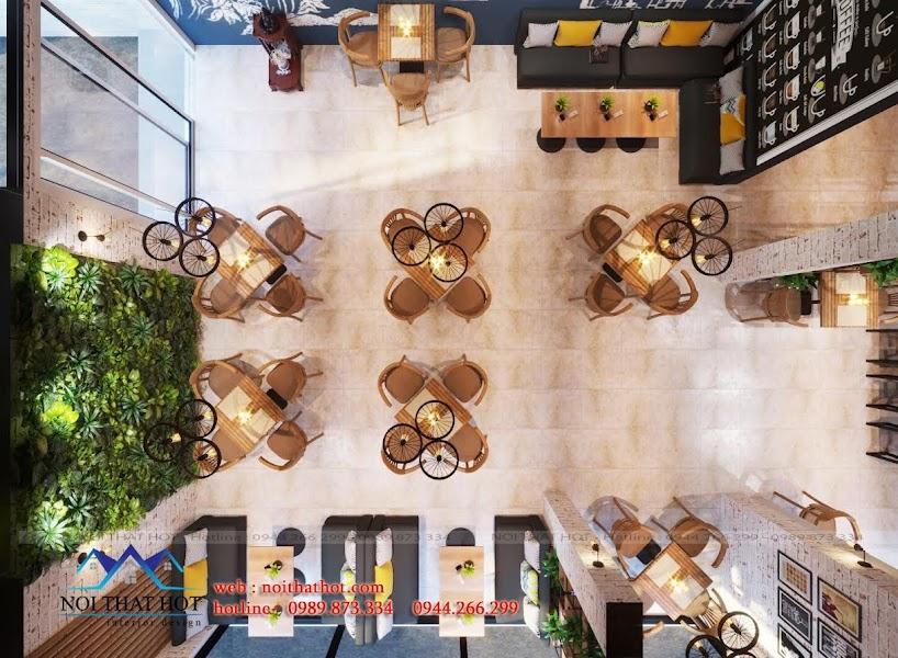 thiết kế quán cafe đa phong cách