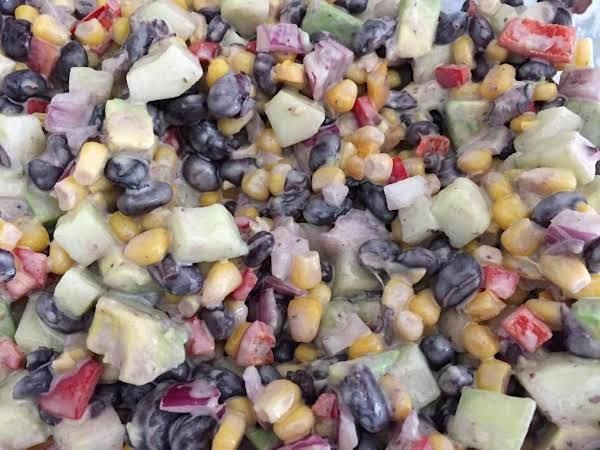 Summertime  Veggie Salad  With Marzettis Slaw Dressing