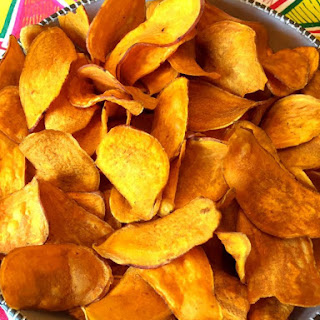 Baked Sweet Potato Chips.