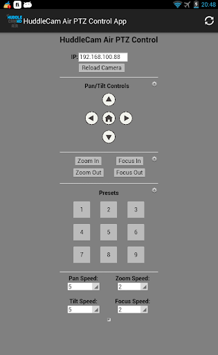 HuddleCam Air PTZ Control App