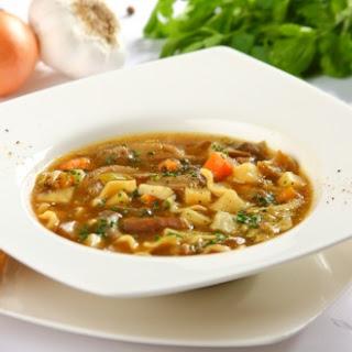Suppe mit Austernpilzen