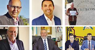 Algunos de los protagonistas de las elecciones en el Levante y el Almanzora.