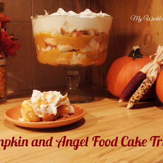 Pumpkin and Angel Food Cake Trifle.