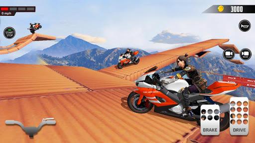 Impossible Mega Ramp Moto Bike Rider Stunts Racing screenshots 6