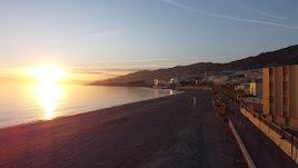 Imagen de la playa de Adra.