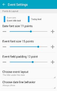 Clean Calendar Widget Pro Screenshot 14