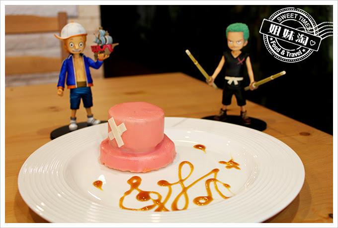 攝飲動漫主題餐廳喬巴帽蛋糕