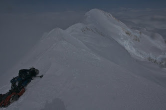 Photo: View on the East Summit from Main Summit.