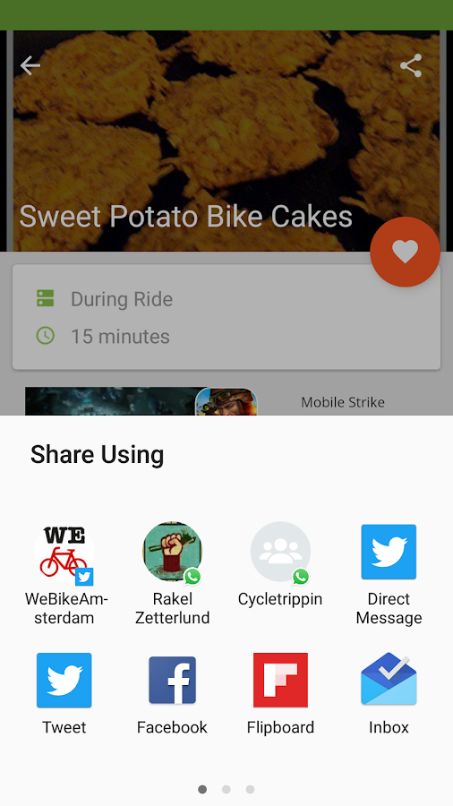Bike Recipes- screenshot