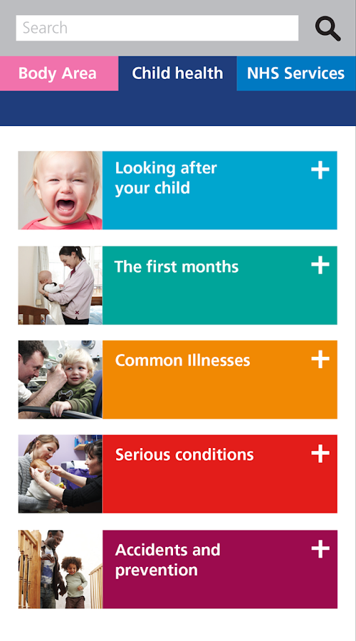 NHS Child Health- screenshot
