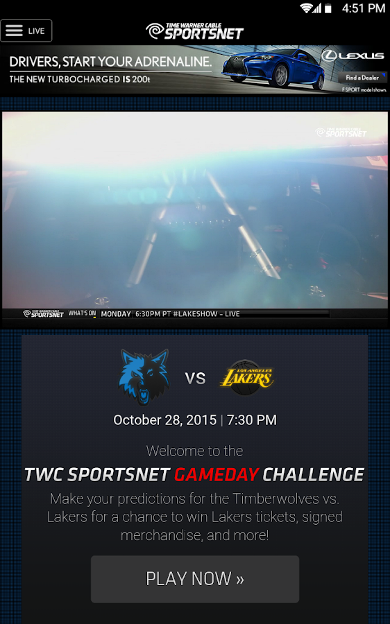 TWC SportsNet- screenshot