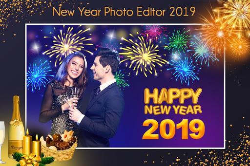 New Year Photo Maker 2019 : Frame, Greeting Card 1.1 screenshots 2