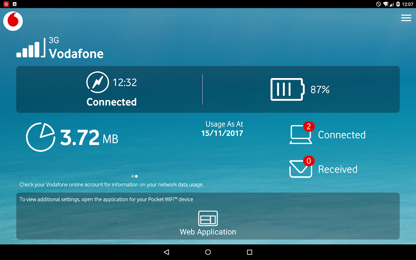 Get the My Vodafone app – it's FREE