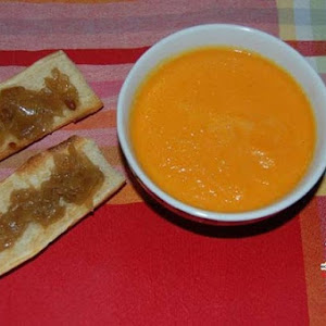 Cream of Carrot Soup with Orange and Turmeric