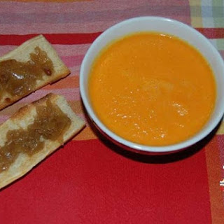 Cream of Carrot Soup with Orange and Turmeric.