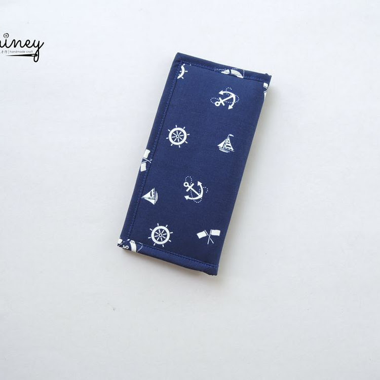 Handmade Long Wallet (Anchors)