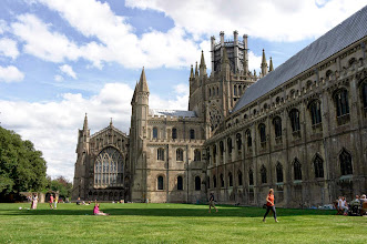 Photo: Ely Cathedral, with it's unusual, majestic octagonal tower.