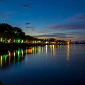 Kuching Water Front by Bernice Then - Landscapes Waterscapes (  )
