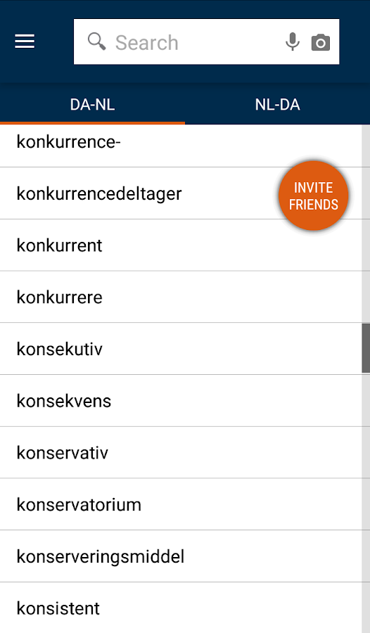 Danish<>Dutch Dictionary- screenshot