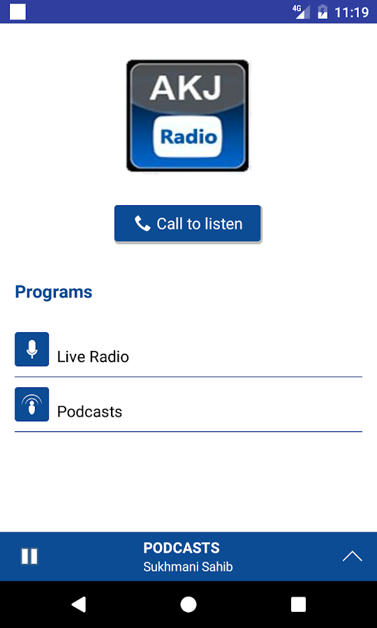 AKJ Radio- screenshot