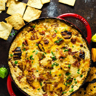 Cheesy Pineapple-Habanero Bacon Dip