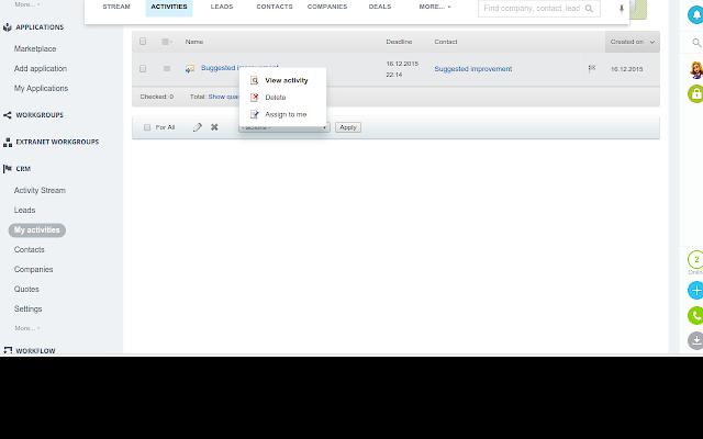 Chrome Bitrix24 Extention